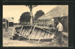 AK Men Building a Boat