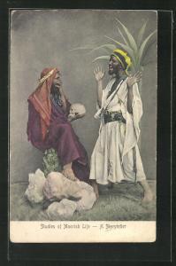 AK Studies of Moorish Life, A Storyteller