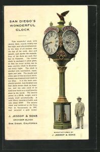 AK San Diego, CA, Wonderful Clock J. Jessop & Sons