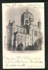AK Dijon, Blick zur Synagoge