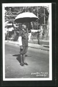 AK Bombay, Traffic Police, indischer Verkehrspolizist