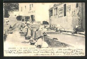 AK Grasse, Le Petit Lavoir, Waschfrauen bei der Arbeit