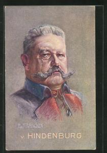Künstler-AK Portrait von Paul von Hindenburg
