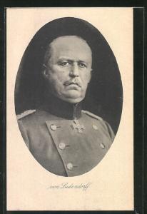 AK Portrait von Erich Ludendorff in Uniform