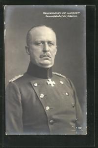 AK Generalleutnant Erich Ludendorff, Generalstabschef der Ostarmee