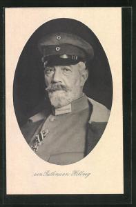 AK Reichskanzler von Bethmann Hollweg als betagter Mann in Uniform