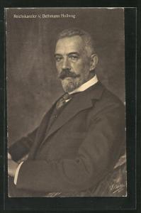 AK Reichskanzler von Bethmann Hollweg im eleganten Anzug