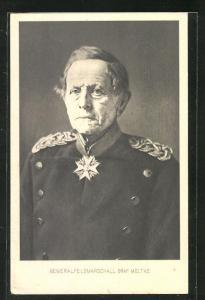 AK Generalfeldmarschall Graf Moltke in Uniform, Reichseinigungskriege