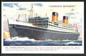 Künstler-AK M.V. Dominion Monarch Shaw Savill Line