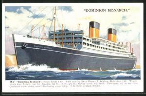 AK M.V: Dominion Monarch Shaw Savill Line