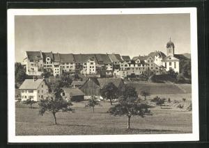 AK Grüningen, Teilansicht mit Kirche