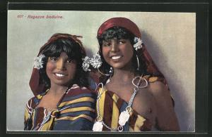 AK Ragazze beduine, arabische nackte Mädchen