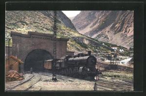 AK Gotthardbahn am grossen Tunnel