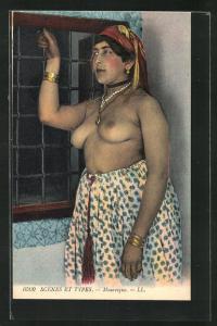 AK Mauresque, arabische nackte Frau