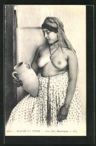 AK Une jolie Mauresque, arabische nackte Frau