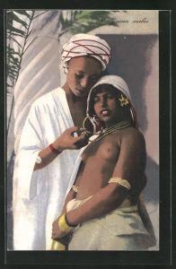 AK Jeunes arabes, junges arabisches nacktes Paar