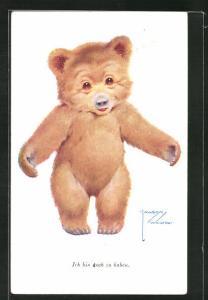 Künstler-AK Lawson Wood: Lächelnder Teddybär