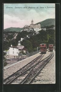 AK Locarno, Santuario della Madonna del Sasso e Funicolare