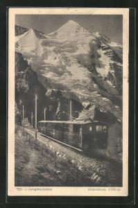 AK Jungfraubahn, Blick zum Silberhorn