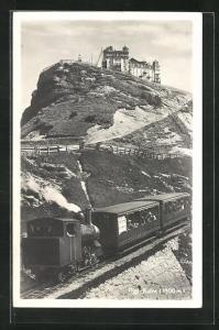 AK Rigi-Kulm, Bergbahn mit Hotel