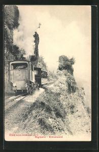 AK Rigibahn, Fahrt an der Kräbelwand