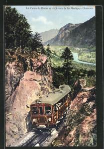 AK La Vallee du Rhone et le Chemin de fer Martigny-Chamonix