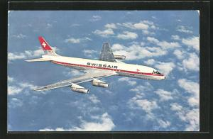 AK Flugzeug Douglas DC-8 der Swissair