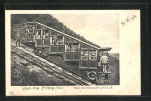 AK Wagen der Malbergbahn