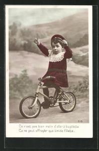 AK Kleinkind auf seinem Fahrrad