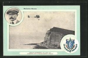 AK Pilot Védrines im Monoplan Morane während des Circuit Européen