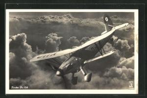 AK Kampfflugzeug Arado Ar 68 über den Wolken