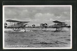 AK Startende Kette von Wasserflugzeugen