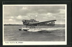 AK Wasserflugzeug vom Typ Focke-Wulf Fw 58 Weihe