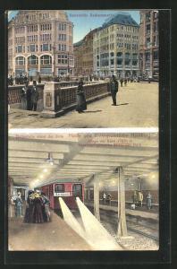 AK Hamburg, Haltestelle Rathausmarkt der U-Bahn