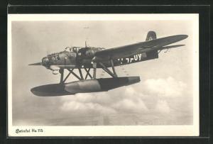 AK Militärisches Wasserflugzeug vom Typ Heinkel He 115