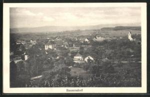 AK Bassersdorf, Ortsansicht mit Landschaft