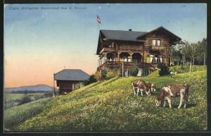 AK Bassersdorf, Chalet Waldgarten Besitzer E. Brunner