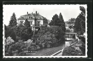 AK Boncourt, Villa A. Burrus am Kanal
