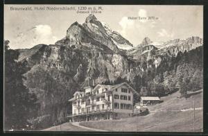AK Braunwald, Hotel Niederschlacht und Hoher Turm