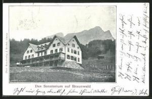 AK Braunwald, Blick auf das Sanatorium