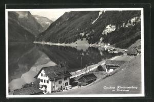 AK Glarus, Totalansicht mit Gasthaus Rhodannenberg am Klöntalersee