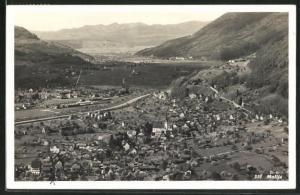 AK Mollis, Panoramablick vom Berg