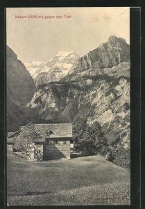 AK Linthal, Gasthaus Obbort, Blick gegen den Tödi