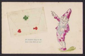 AK Zwerg zeigt auf einen Brief
