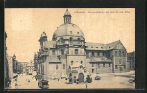 AK Würzburg, Neumünsterkirche mit Grab des heil. Kilian