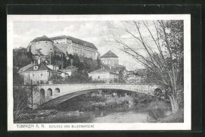 AK Tübingen, Schloss und Alleenbrücke