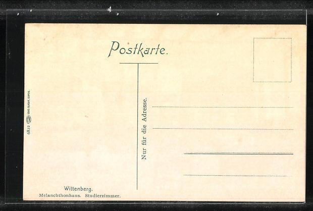 AK Wittenberg, Melanchtonhaus, Studierzimmer, Innenansicht 1