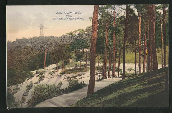 AK Bad Freienwalde, Blick auf das Kriegerdenkmal 0
