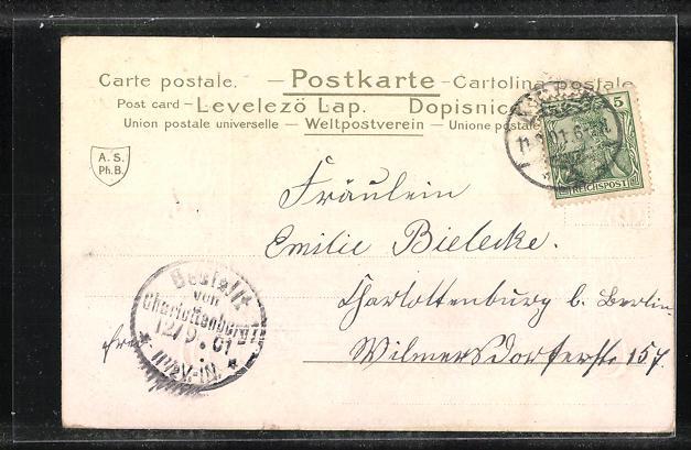 Passepartout-Präge-AK Aachen / Rheinland, Der Dom 1