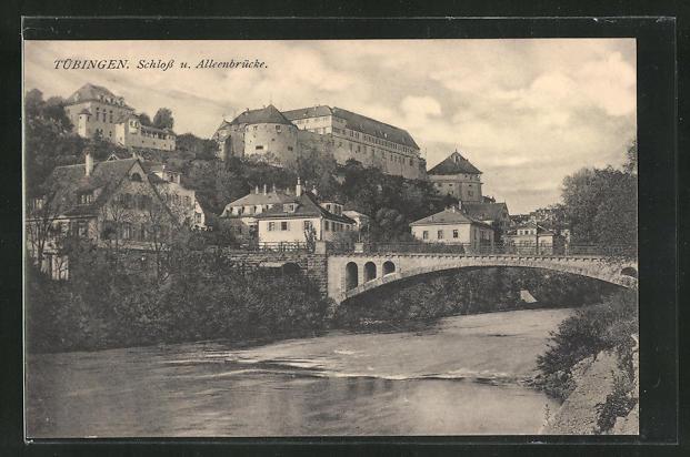 AK Tübingen, Schloss u. Alleenbrücke 0